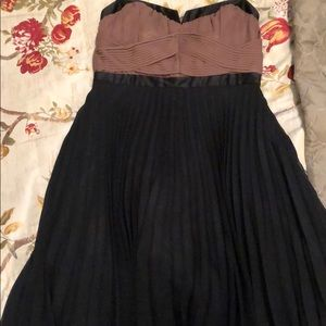 Strapless pleated dress